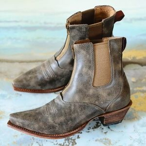 Twisted X brown leather boots New in Box